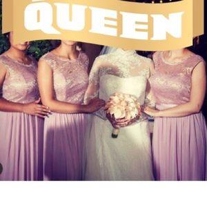 Mauve Brides maid dress
